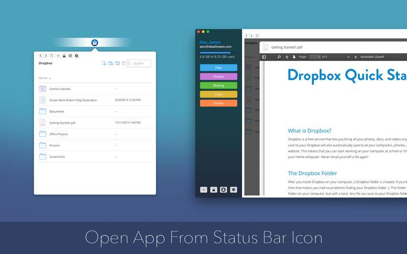 DropLite for Dropbox Screenshot - 3