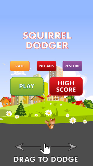 Squirrel Dodger: fast fun rock avoiding game