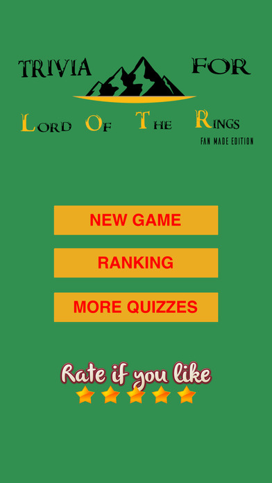 Trivia for Lord Of The Rings fan quiz