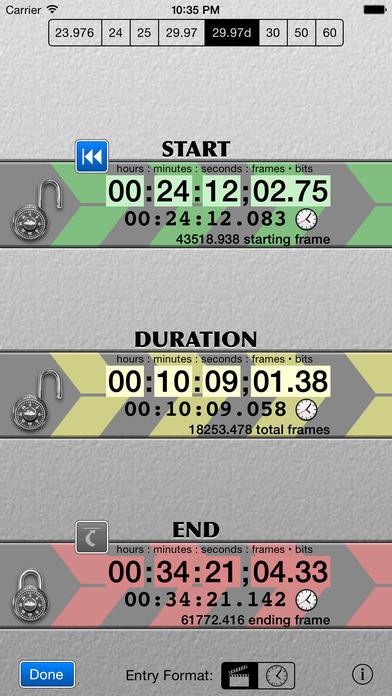 SMPTE Score iPhone Screenshot 2
