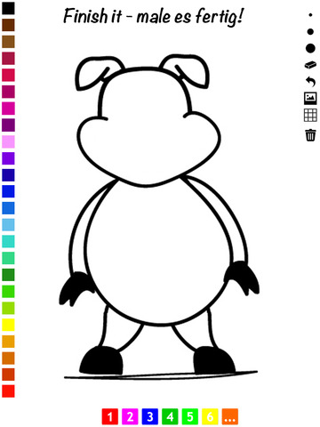 Книжка-раскраска животных для детей: Научиться рисовать снимковым