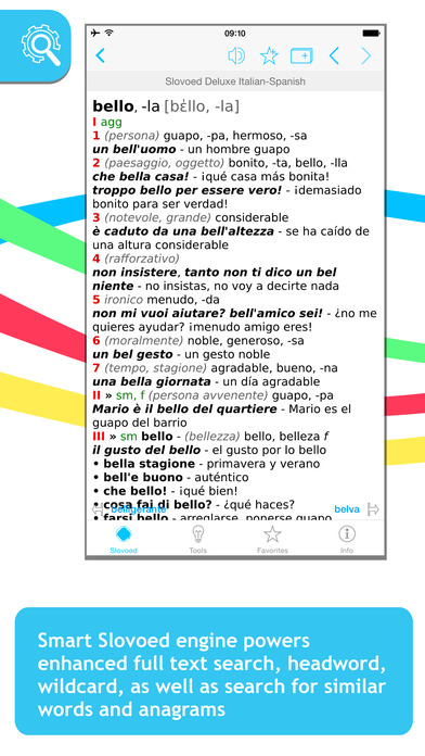 Italian <-> Spanish Slovoed Deluxe talking dictionary iPhone Screenshot 1