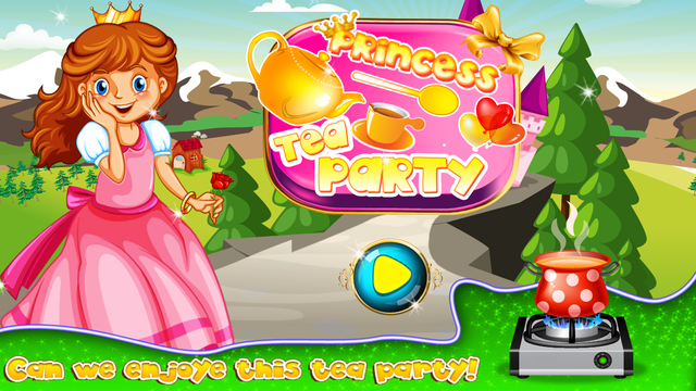 Princess Tea Party – Make desserts cookies for royal guests in this cooking chef game