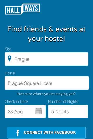 Hallways - Hostel Social Network screenshot 1