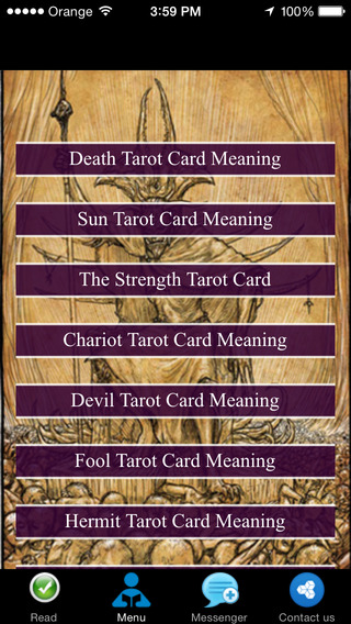 Tarot Card Meaning - Reference Guide