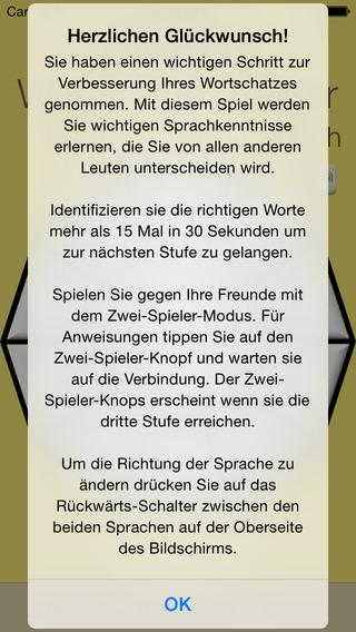 Vocabulary Trainer: German - Italian iPhone Screenshot 5