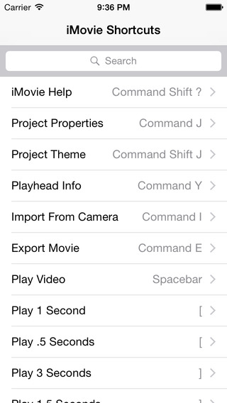 Shortcut: iMovie Edition