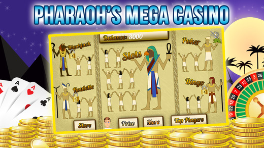 Poker Blitz Of The Pharaohs with Slots Blackjack and More