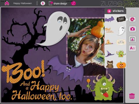 Happy Halloween Scrapbooking Design for Girls