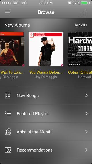 DiGiMusic iPhone Screenshot 1