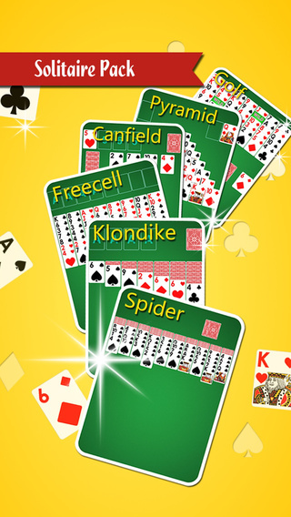 A¹ Solitaire Pack -Classic Poker:Spider Freecell Canfield Pyramid Klondike Golf