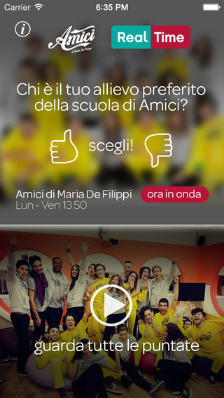 Amici Real Time