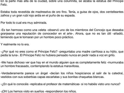 Cuentos de Oscar Wilde iPad Screenshot 1