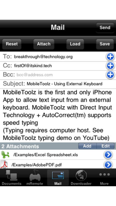 MobileToolz™ (Print, Fax, Scan, use ext. Keyboard, Mobile Presentations, +More) iPhone Screenshot 5