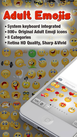 Adult Emojis Keyboard for iMessage Whatsapp SMS Chat Texting