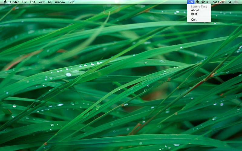 显示电池时剩余时间 Battery Time for Mac