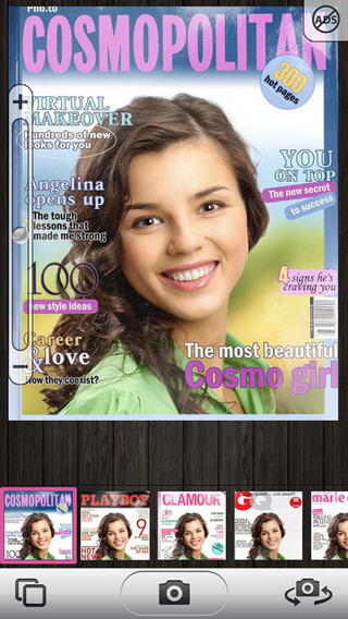 CoverCam - get on the cover of a popular magazine with your camera