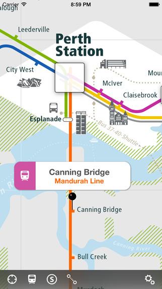 Perth Rail Map Lite