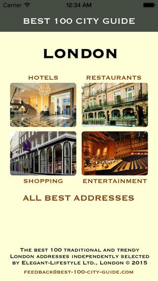 Best 100 City Guide London