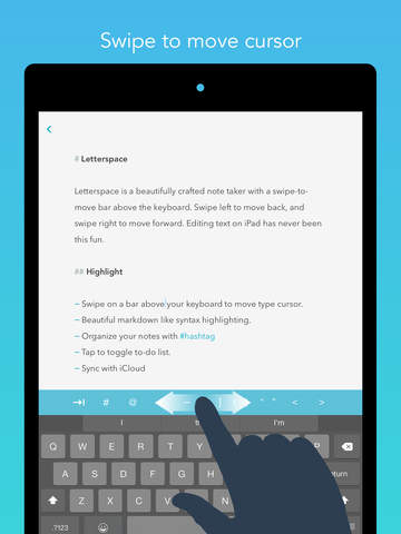 Letterspace – Swipe. Edit. Note. Screenshot