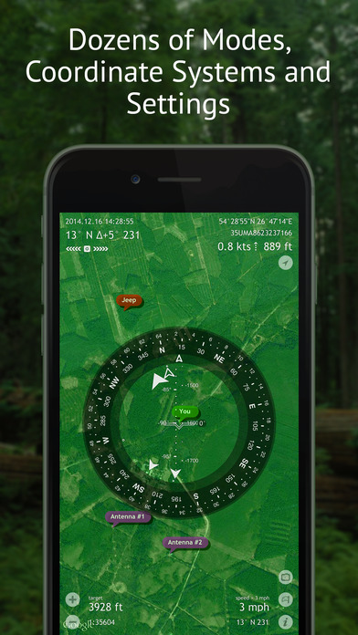 Spyglass ~ AR tracker, compass, sextant, rangefinder, gps, maps, stars iPhone Screenshot 5