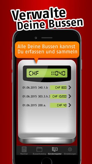 Bussenrechner Schweiz iPhone Screenshot 4