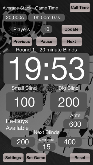 Poker Blinds Timekeeper