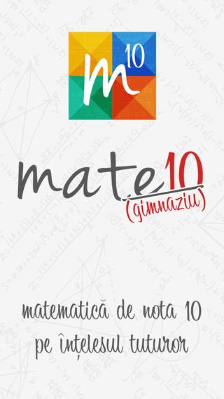 Mate10 Gimnaziu - formule matematice teoreme definiții proprietăți grafice exemple și algoritmi de r