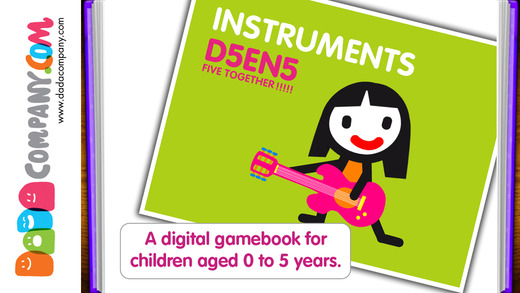 D5EN5: The Instruments - An Interactive Game Book for babies and toddlers