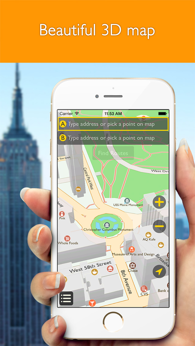 how to download a route map for offline use iphone