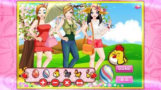 Easter girls dressup