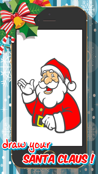 Draw Your Santa Claus - Drawing Painting Sketch Pad Free for Merry Christmas to Share Graphics