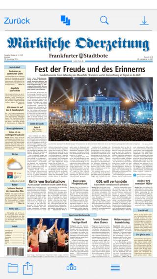 MOZ DE ePaper der Märkischen Oderzeitung Oranienburger Hennigsdorfer Generalanzeiger Uckermark Ruppi
