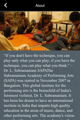 SaPa - The Official app of the Subramaniam Academy of Performing Arts.  Learn music! screenshot 2