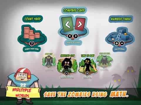 Math Vs Zombies - Math Games Grade K - 5 screenshot