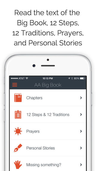 AA Big Book — Sobriety Tools App for Alcoholics Anonymous
