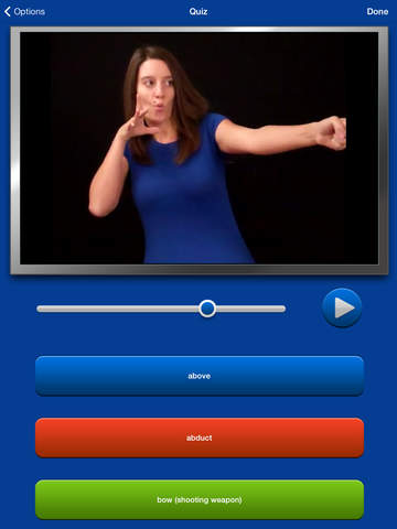 ASL Dictionary HD American Sign Language screenshot
