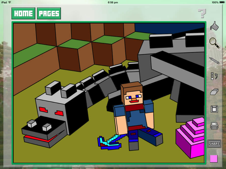Quick Color For Kids Minecraft Edition 2 Ios Store