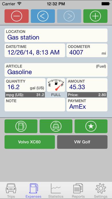 Drivers Log iPhone Screenshot 2