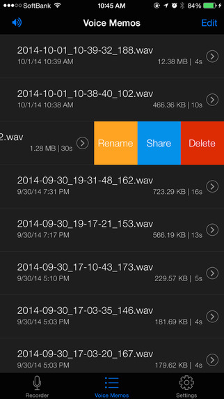 Voice Recorder HD - Audio Recording, Playback, Trimming and Sharing Screenshots