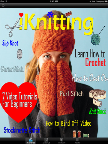 Best iKnitting Video Magazine - Learn to Crochet Made Easy Guide