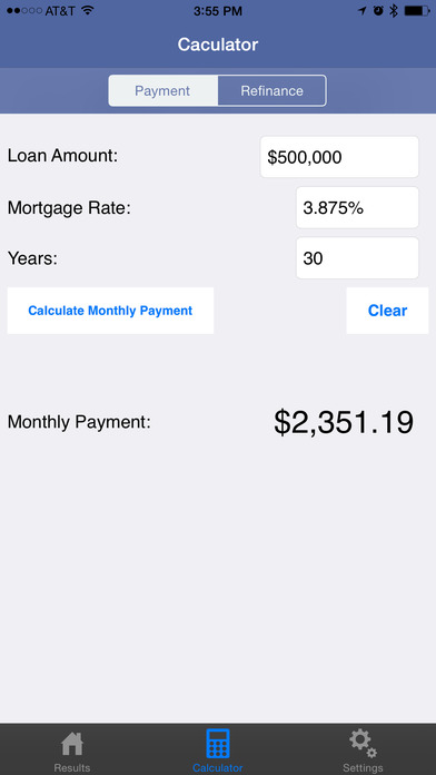 Mortgage Rates & Credit Card Rates iPhone Screenshot 2