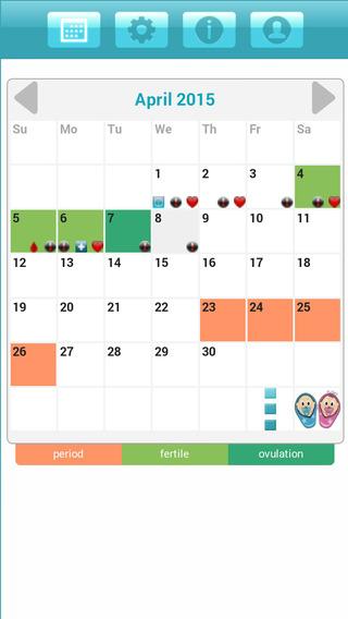 Period and Ovulation Calendar Ladytimer