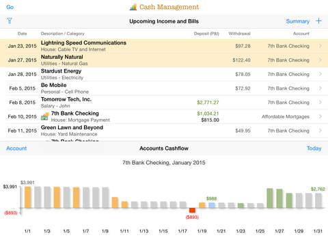 Cheetah Finances for iPad