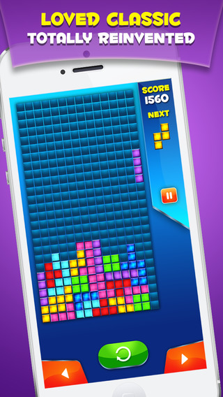 Block Puzzle: Classic Russian Puzzler where you Match Move Spin Drop and Connect Blocks.