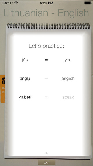 BidBox Vocabulary Trainer: English - Lithuanian iPhone Screenshot 1