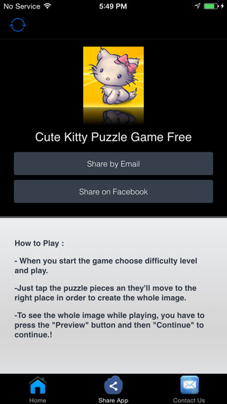 Cute Kitty Puzzle Game Free