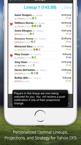 LineStar - Optimal Lineups for Y Sports