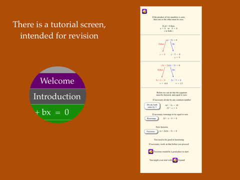 QuadSolve - Solve quadeatic equations by factorising