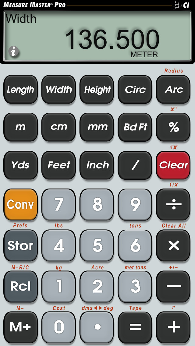 measure master pro feet inch construction math calculator for architects builders. Black Bedroom Furniture Sets. Home Design Ideas